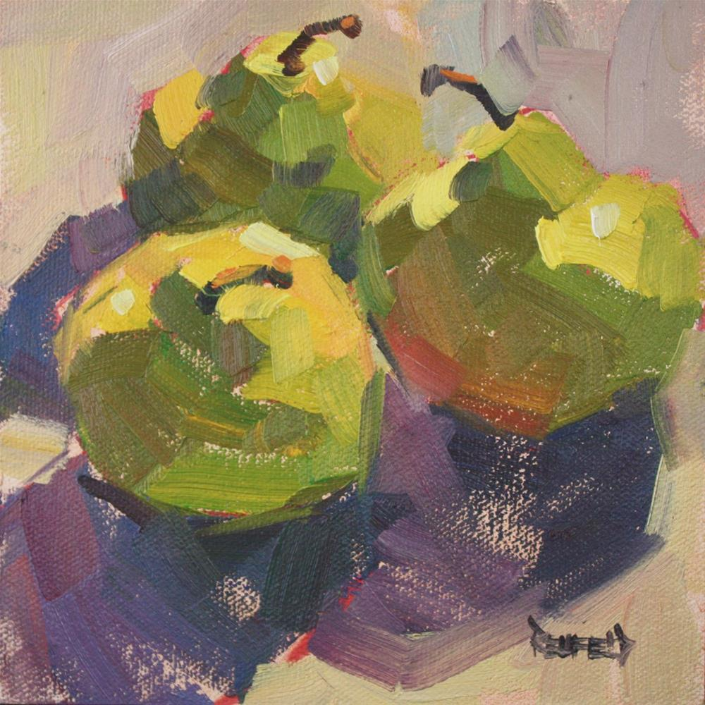 """Market Pears"" original fine art by Cathleen Rehfeld"