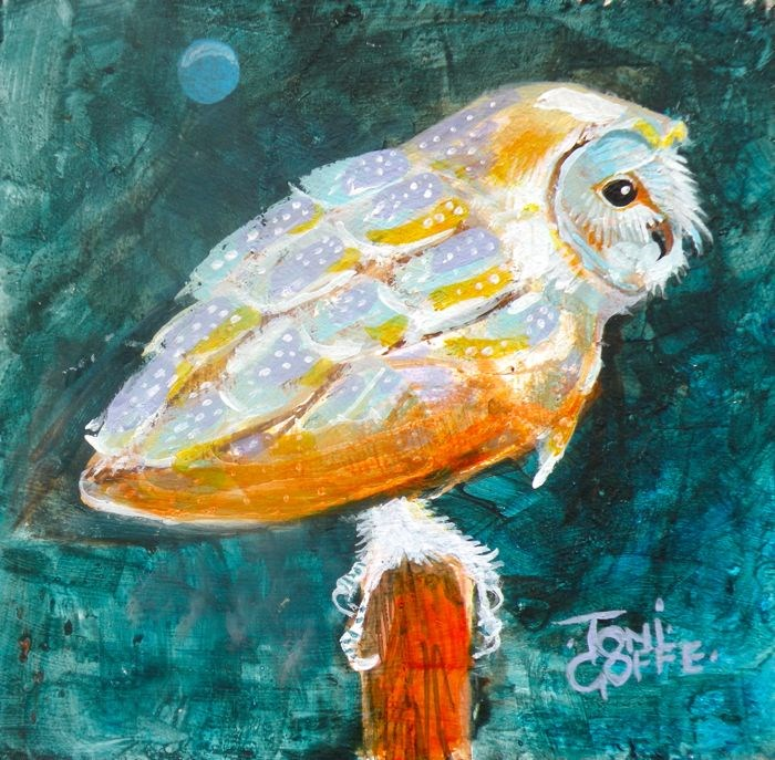 """Barn Owl"" original fine art by Toni Goffe"