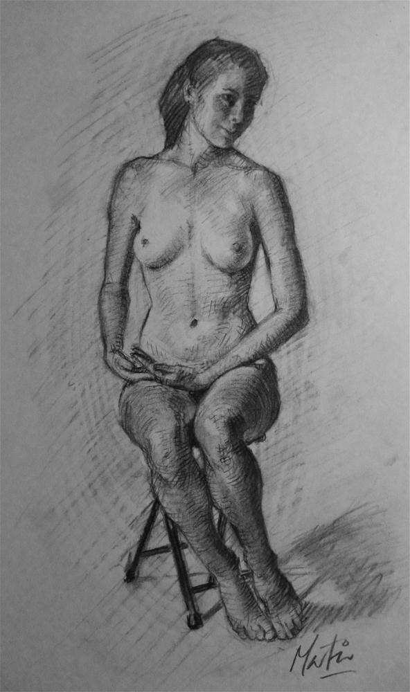 """Figure study"" original fine art by Chris Martin"