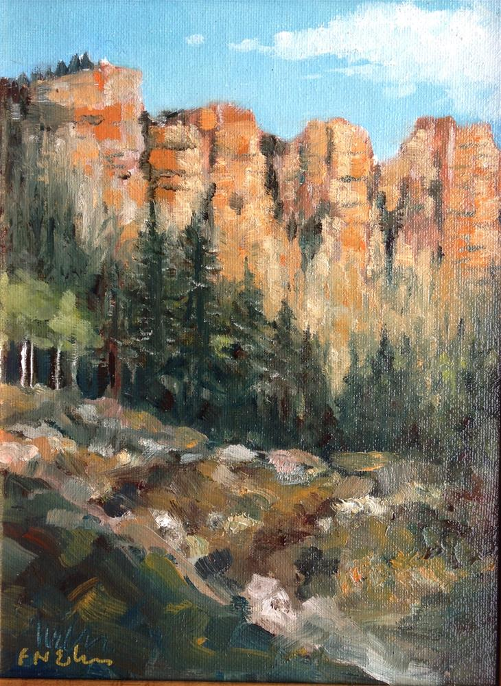 """Utah Ridge"" original fine art by Frank and Liangni Nelson"