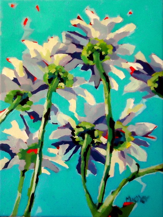 """Daisy, Daisy (give me your answer true)"" original fine art by Laurie Mueller"