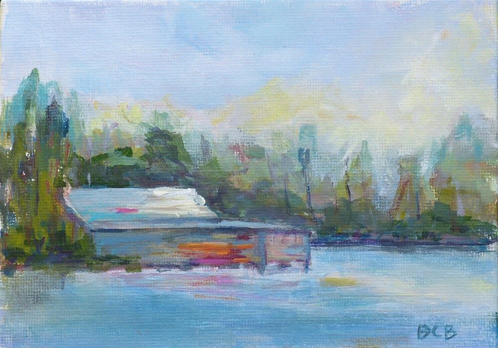 """Boathouse Study"" original fine art by Beth Carrington Brown"