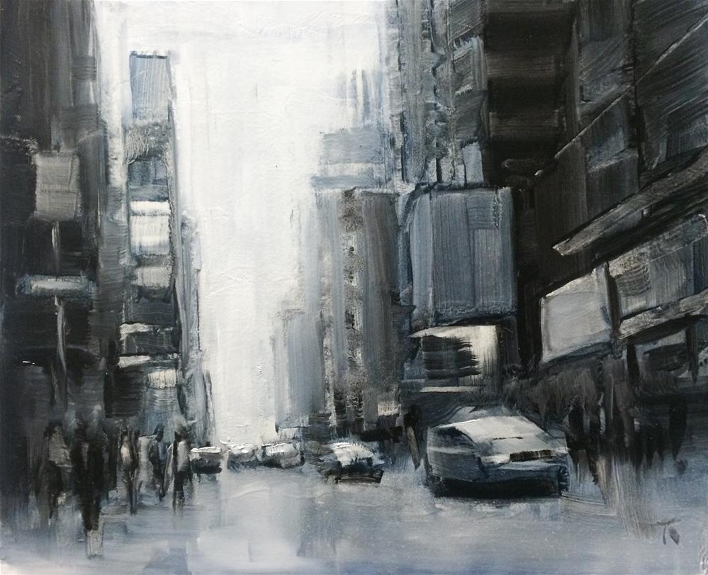 """Street Composition 7"" original fine art by Thomas Ruckstuhl"