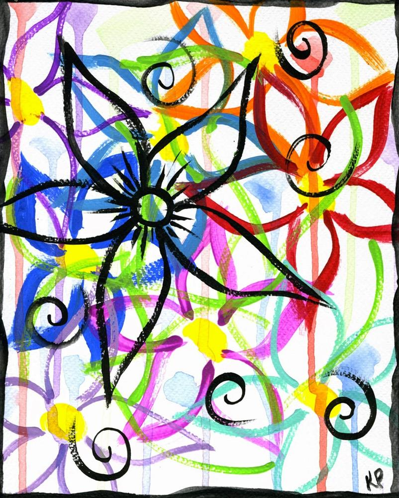 """An Explosion of Color"" original fine art by Kali Parsons"