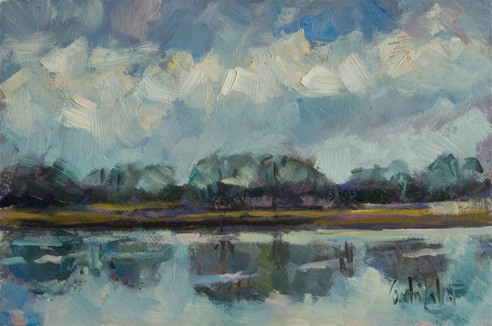"""Lake at Birdham"" original fine art by Andre Pallat"