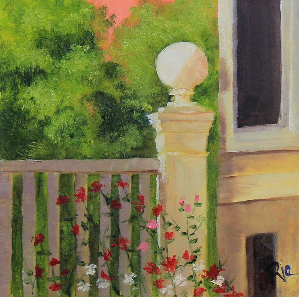 """Moments in Italy - Rose Garden"" original fine art by Maria Reed"