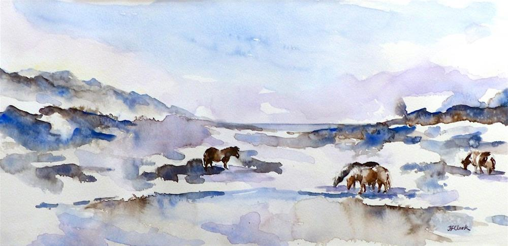 """Icelandic Horses"" original fine art by Judith Freeman Clark"