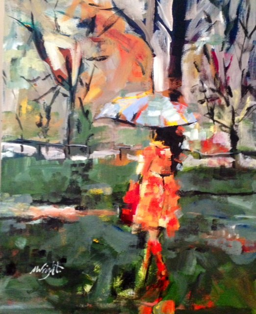 """Red Boots"" original fine art by Molly Wright"