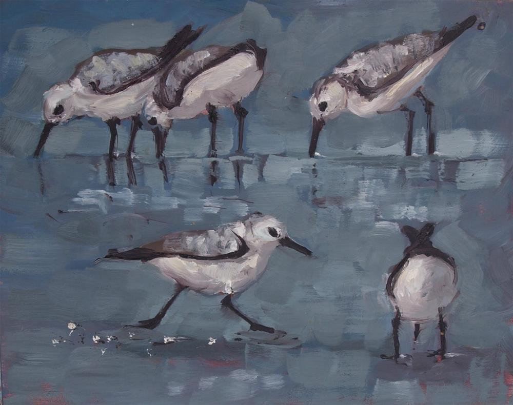 """Little birds"" original fine art by Rick Nilson"