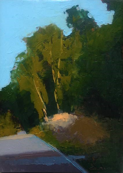 """The Hill"" original fine art by Mary Gilkerson"