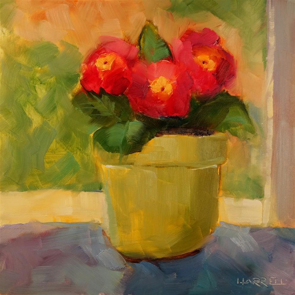 """Sunshine and Primroses"" original fine art by Sue Harrell"