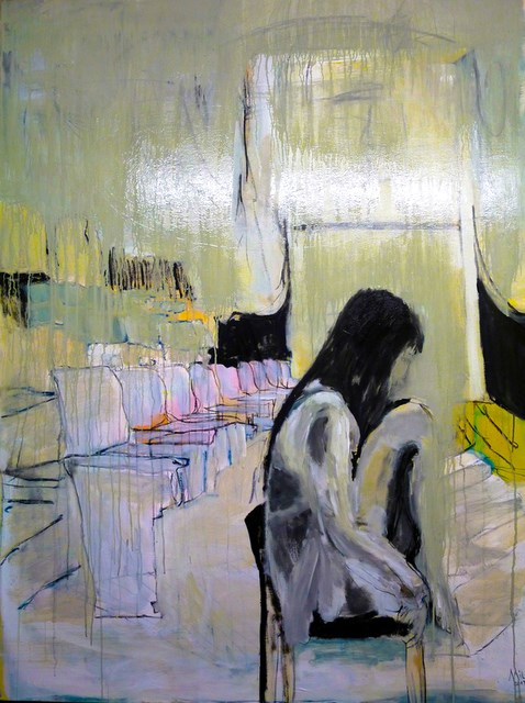 """Gedanken / thoughts"" original fine art by Mila Plaickner"