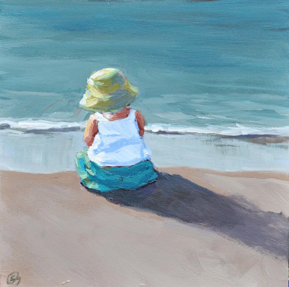 """Beach Babe"" original fine art by Shari Buelt"