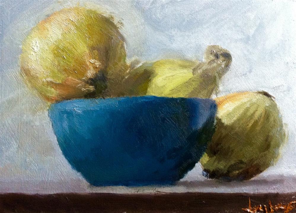 """Still Life with Onions"" original fine art by Richard Jones"