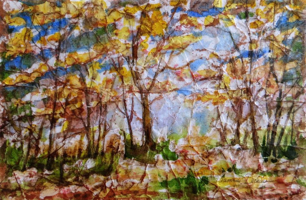 """Batik Autumn"" original fine art by Tammie Dickerson"