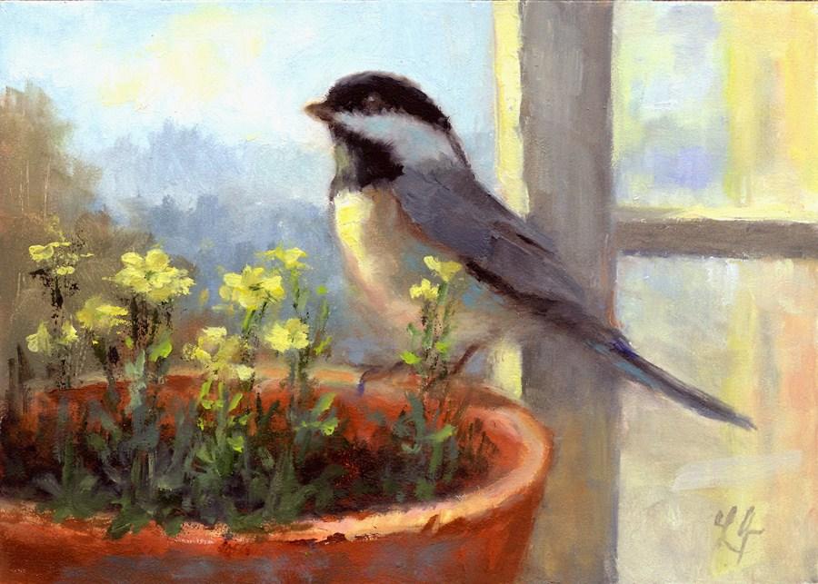 """Welcome"" original fine art by Linda Jacobus"