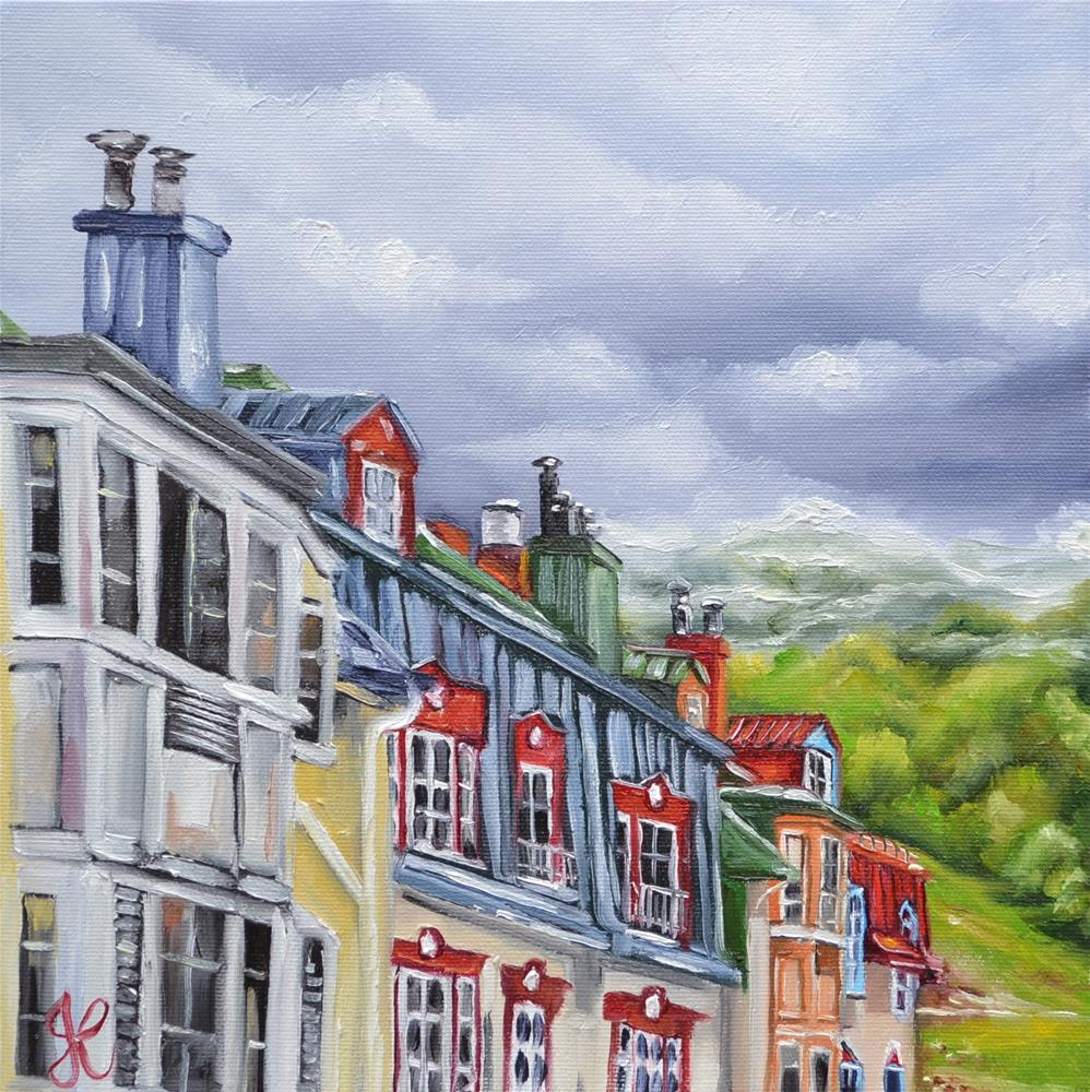 """Mont-Tremblant view from room 208"" original fine art by Jacinthe Rivard"