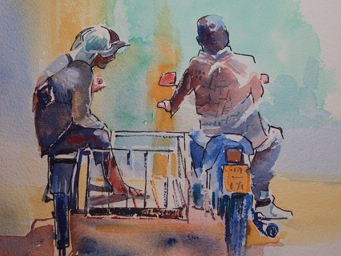 """Thailand Two Seater"" original fine art by Nicola Dalbenzio"