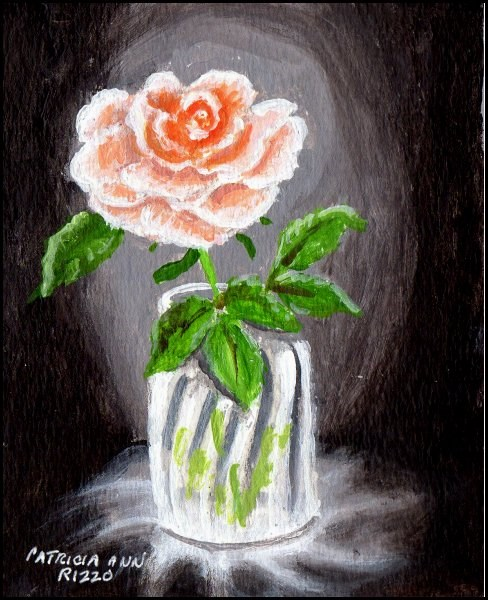 """Pink Minirose"" original fine art by Patricia Ann Rizzo"