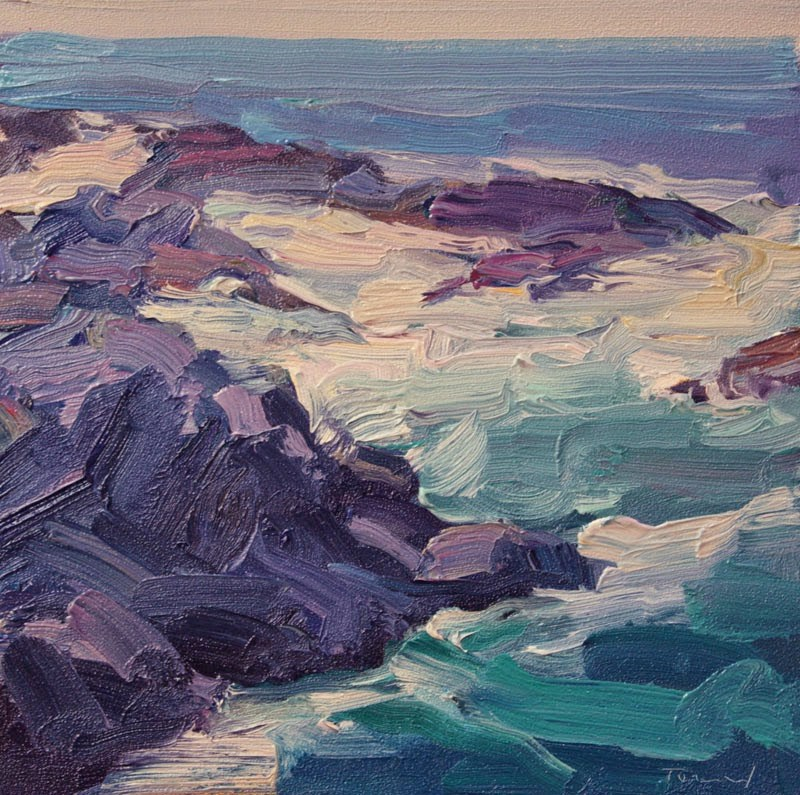 """Rocks and Waves"" original fine art by Kathryn Townsend"