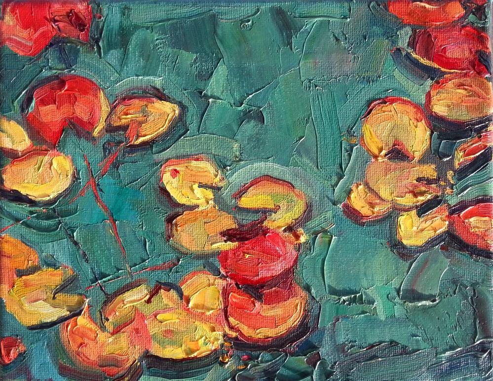 """Water Lilies"" original fine art by Nava Judith"
