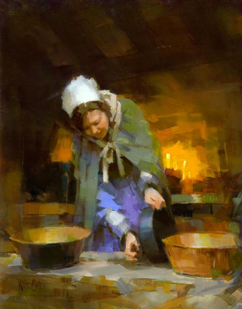 """Homestead Woman"" original fine art by Rita Curtis"