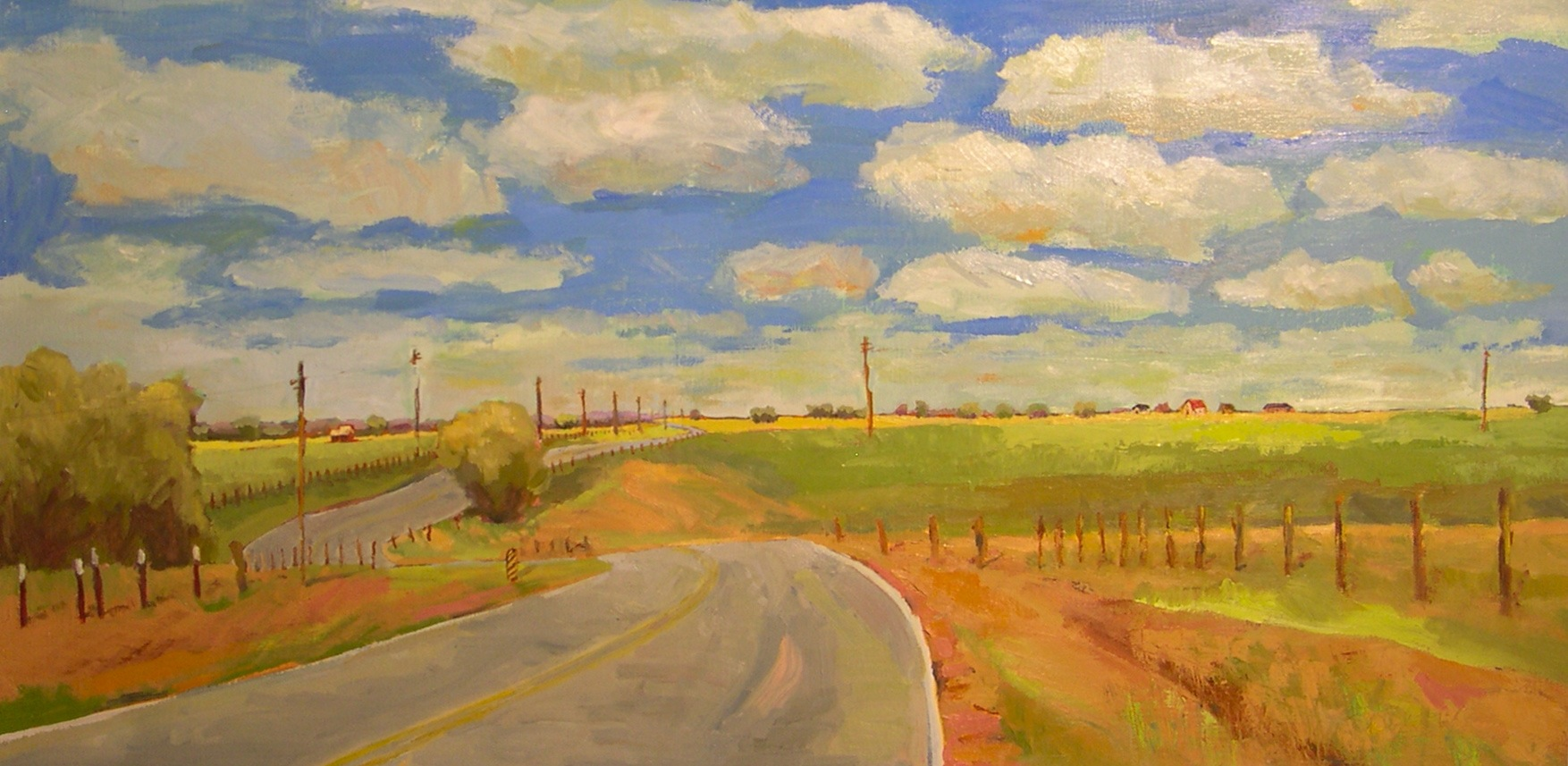 """Country Road"" original fine art by Donna Walker"