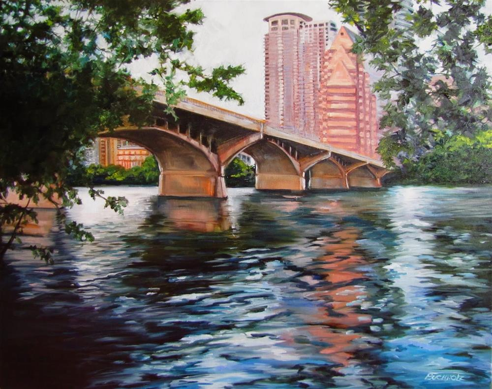 """Congress Avenue Bridge"" original fine art by Terri Buchholz"