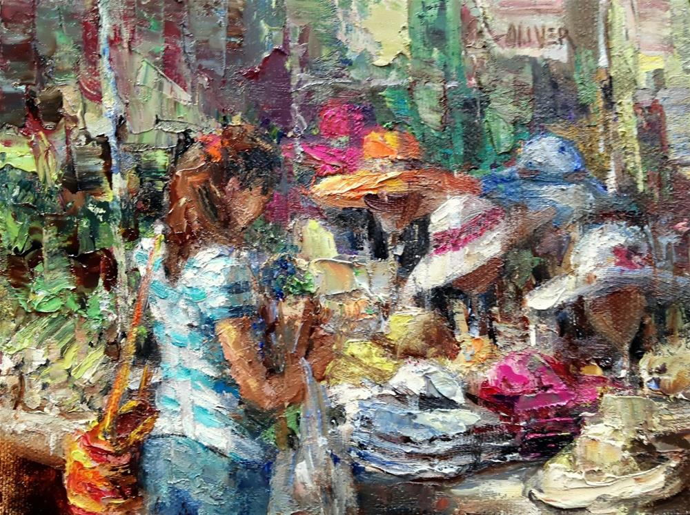 """Farmers Market #9"" original fine art by Julie Ford Oliver"