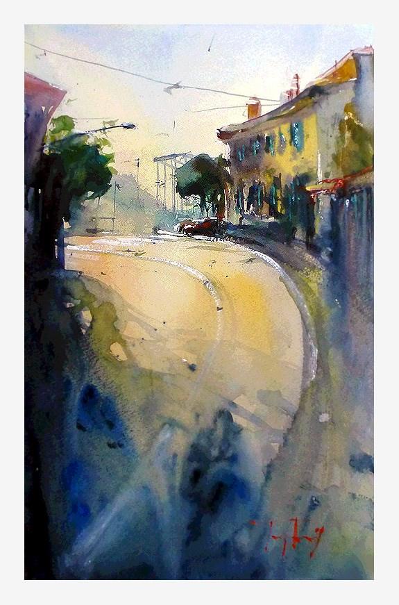 """""""Auf dem Weg nach Monaco"""" original fine art by Jurij Frey"""