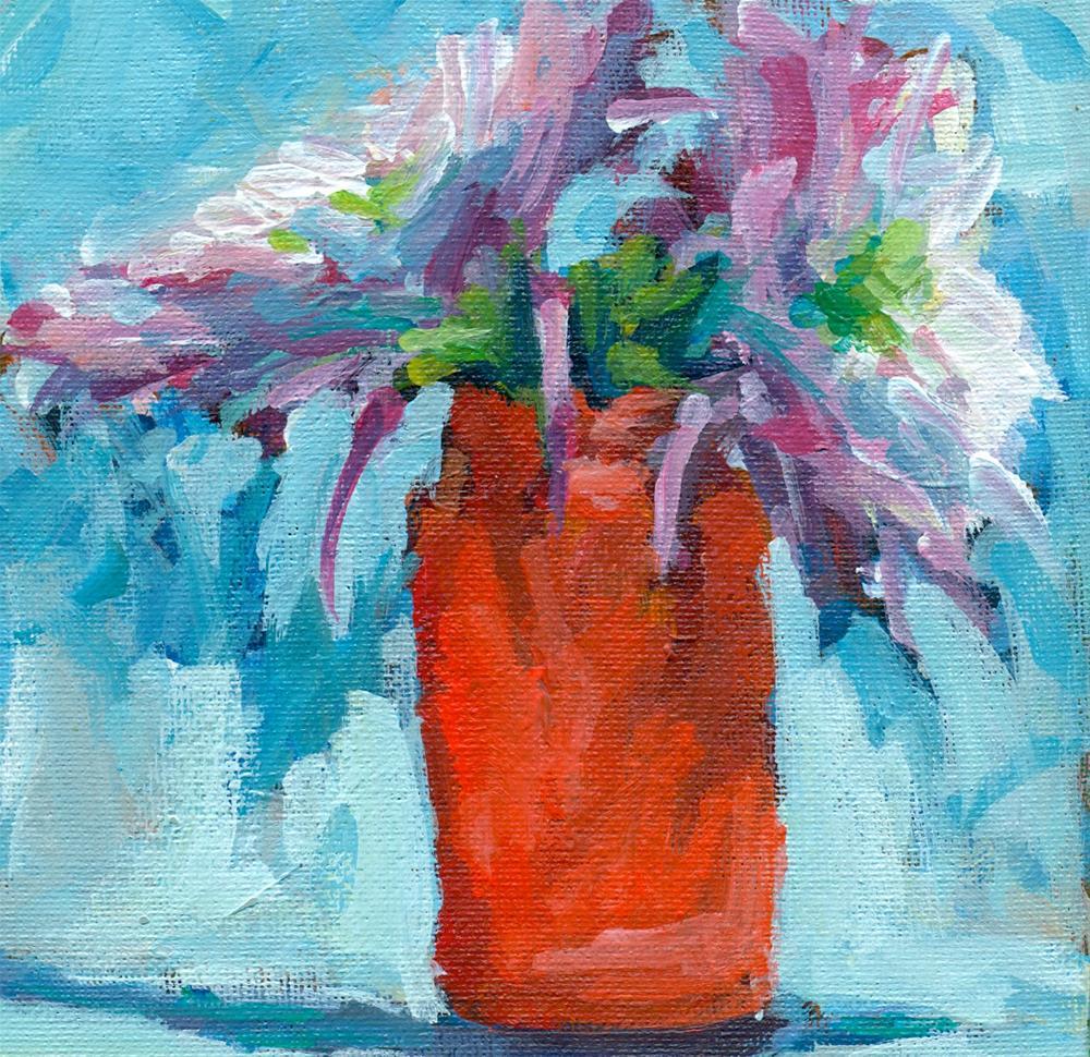 """red jar"" original fine art by Shelley Garries"