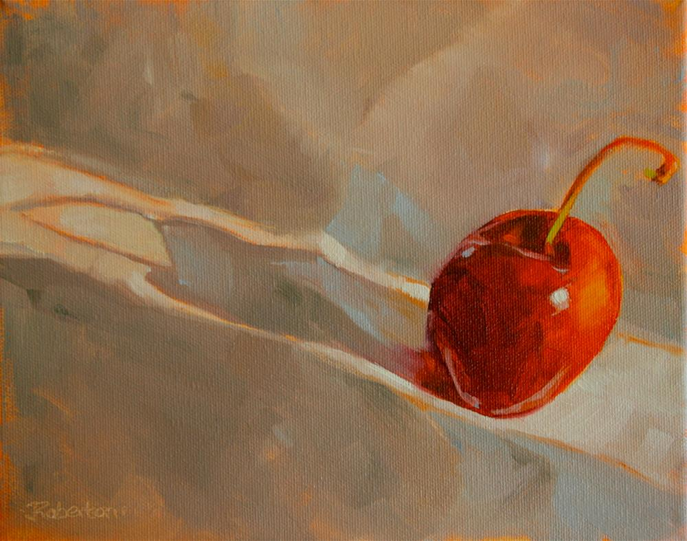 """The Last Cherry"" original fine art by Jane Robertson"