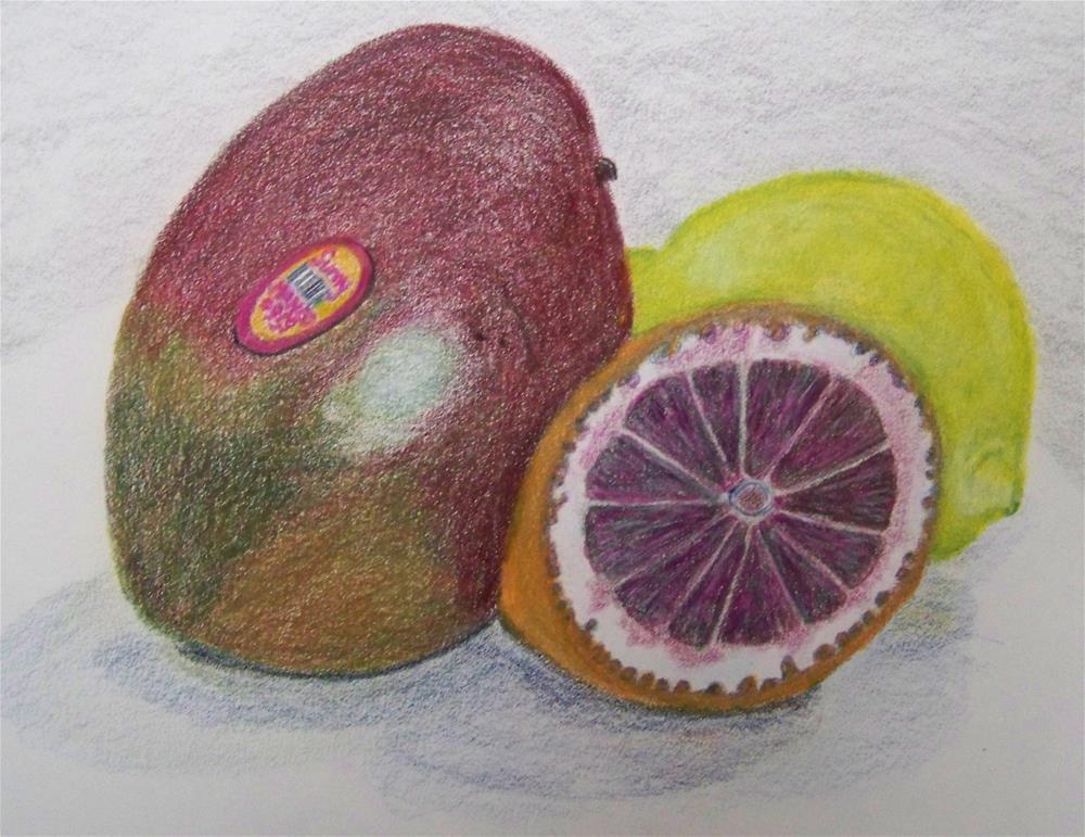 """Fruity Compliments"" original fine art by Elaine Shortall"