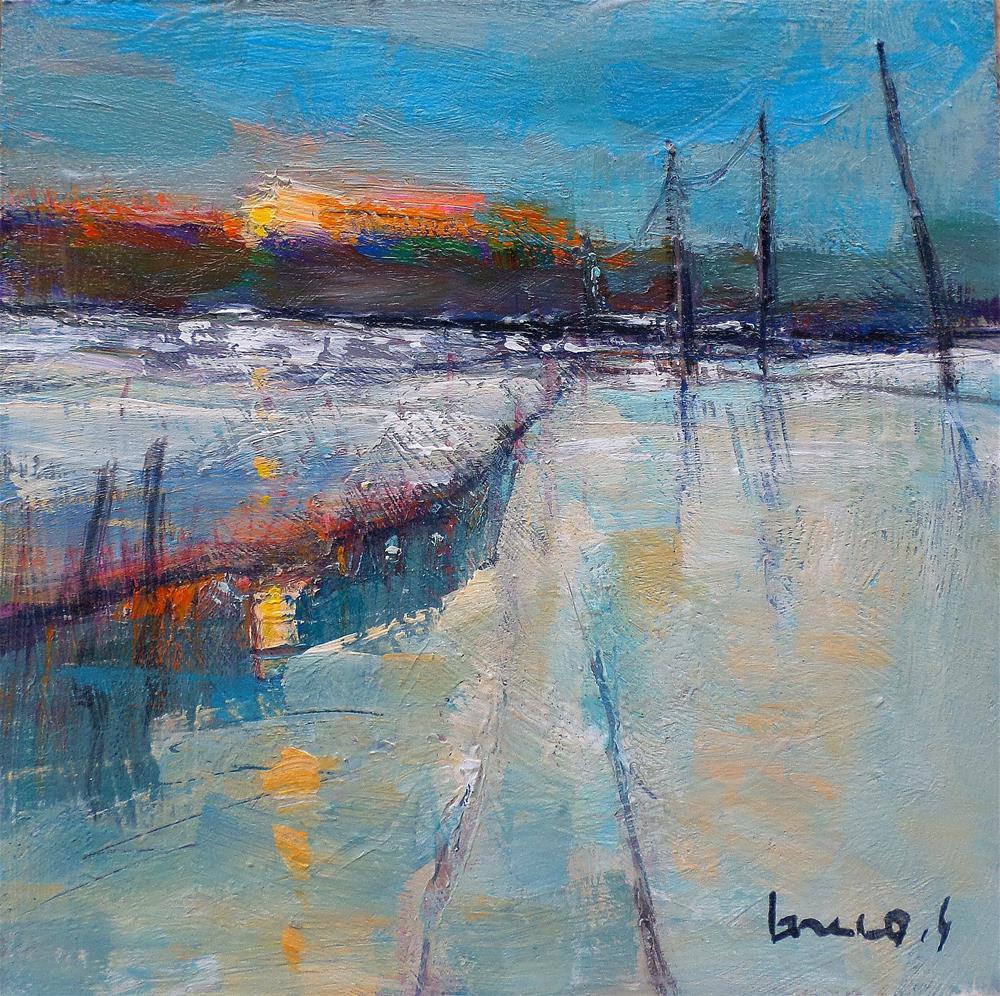 """Snow in fieldmorning"" original fine art by salvatore greco"