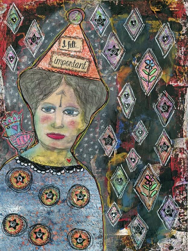 """I Felt Important"" original fine art by Sonja Sandell"