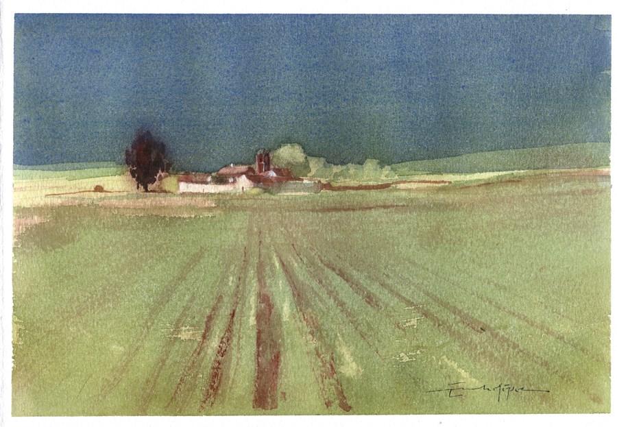 """Seville countryside 2"" original fine art by Emilio López"