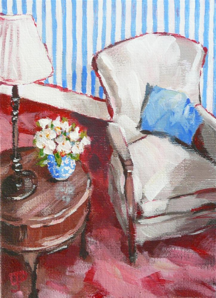 """A Place To Read"" original fine art by Leanne Owen"