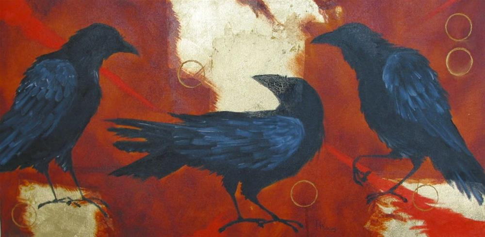"""The Conversation"" original fine art by Patricia Murray"