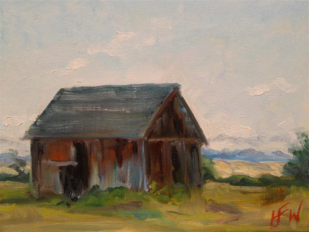 """""""Old Barn in Oregon"""" original fine art by H.F. Wallen"""