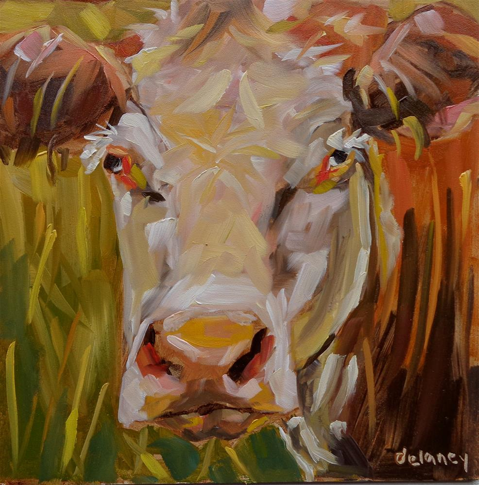 """Cow 106 THE CEO"" original fine art by Jean Delaney"