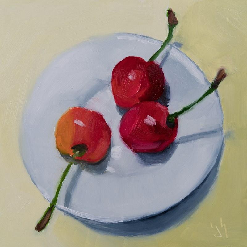 """""""Rainier Cherries"""" original fine art by Johnna Schelling"""