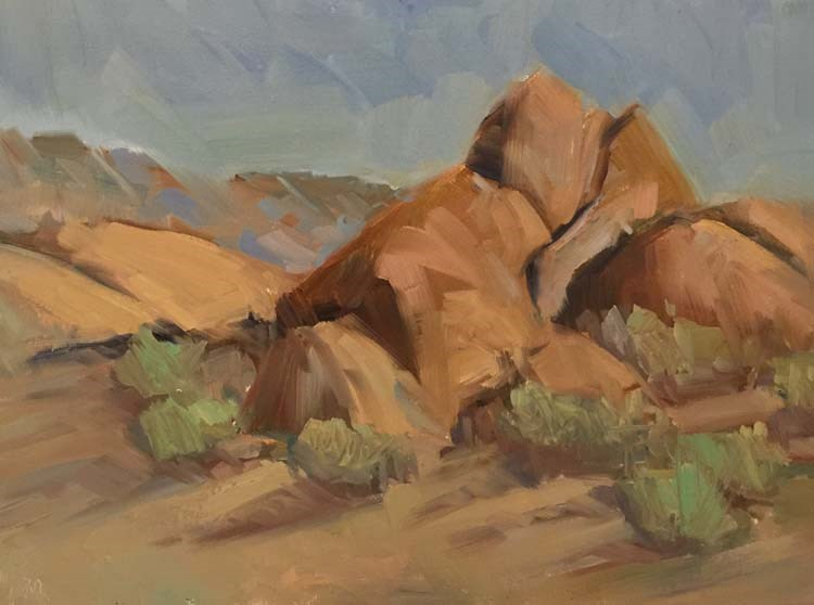"""Late Afternoon Hike in the Alabama Hills"" original fine art by Patti McNutt"