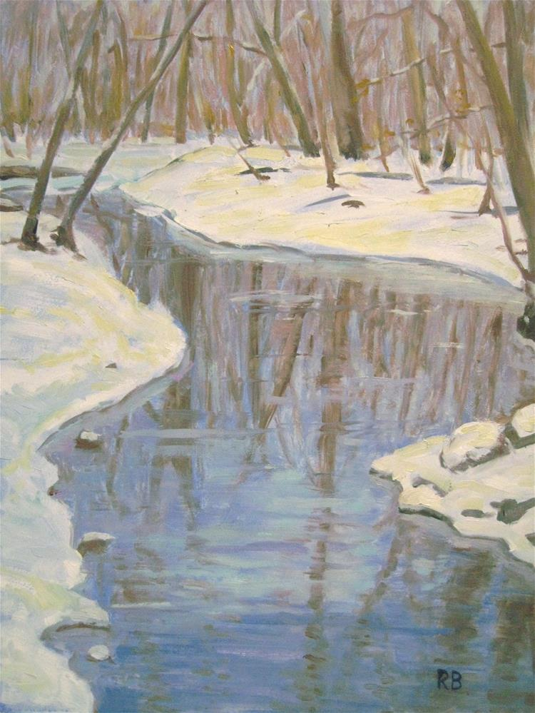"""Winter Reflections"" original fine art by Robie Benve"