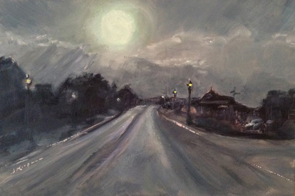"""Before the Storm. Bedford"" original fine art by Shelley Koopmann"