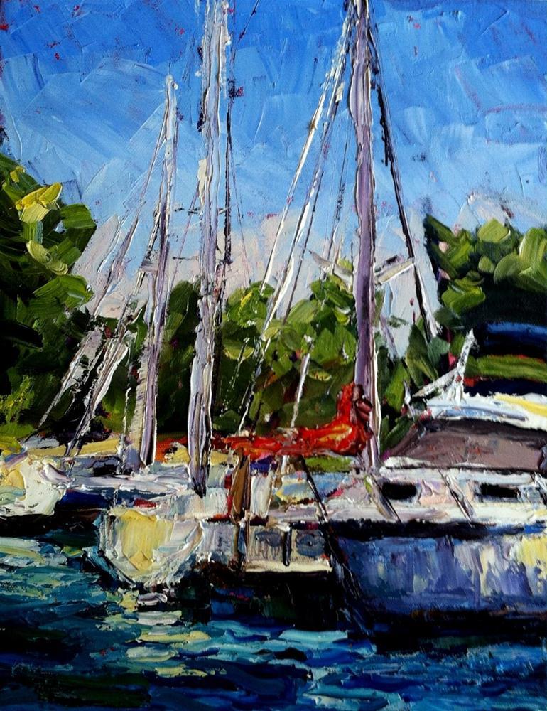 """""""Cedar Point Marina"""" original fine art by Kristen Dukat"""