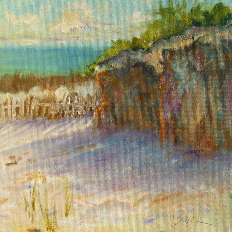 """Ocean View"" original fine art by Connie Snipes"
