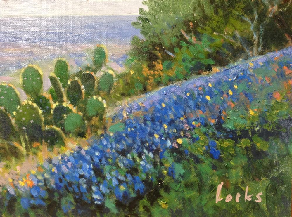 """""""Hillside of Blue"""" original fine art by David Forks"""