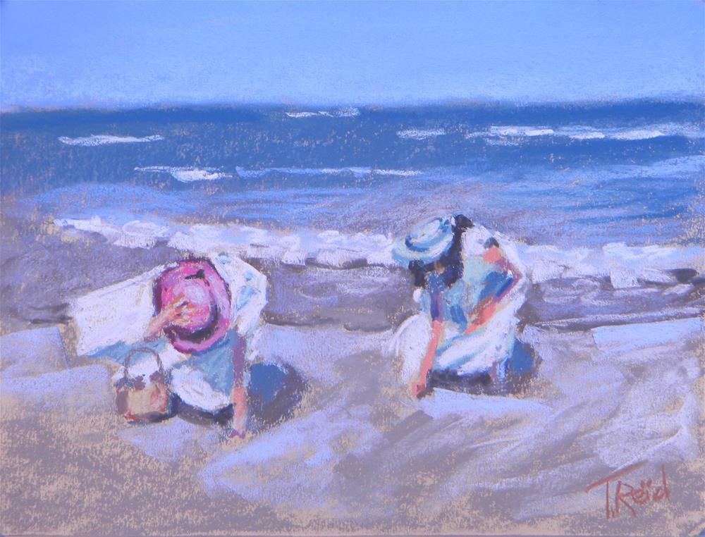 """Windy Beach Morning #2"" original fine art by Toby Reid"