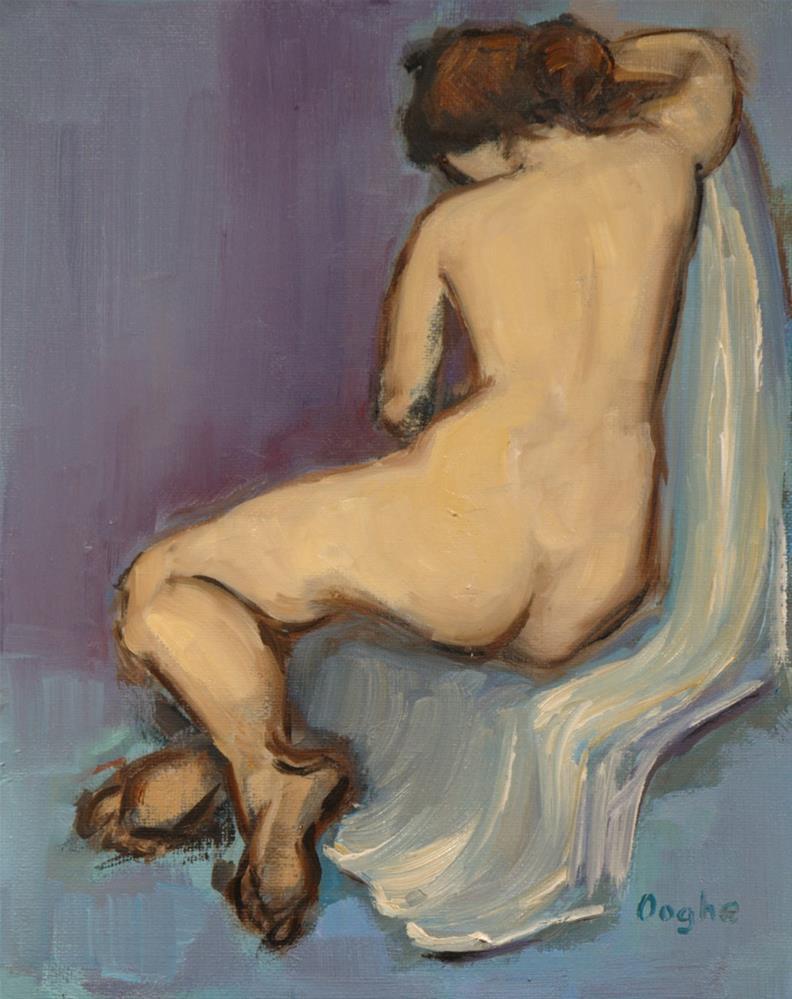 """Nude Resting on Blanket"" original fine art by Angela Ooghe"