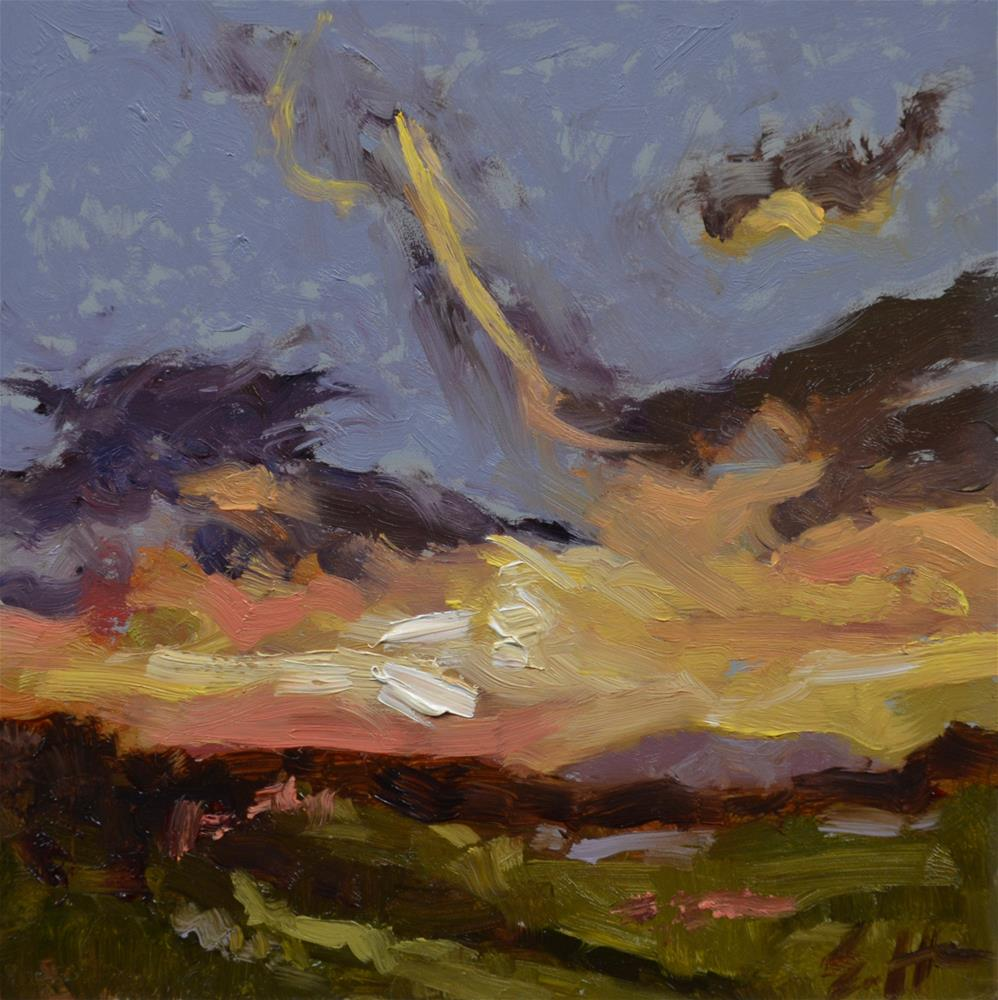 """Stormset"" original fine art by Susan Hughes"